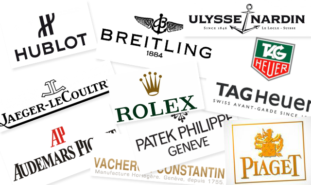 luxury watch logos