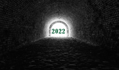 tunnel with a 2021 light