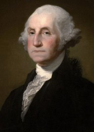 How to pronounce George Washington - Portrait by Gilbert Stuart