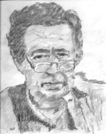How to pronounce Mordecai Richler - Pencil sketch by Jburlinson
