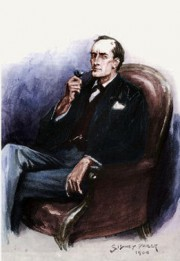 How to pronounce Sherlock Holmes - Portrait by Sidney Paget